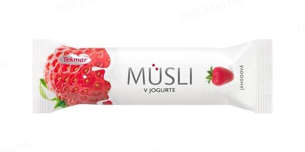 Батончик Tekmar Мюсли в йогурте Клубника, 30 г