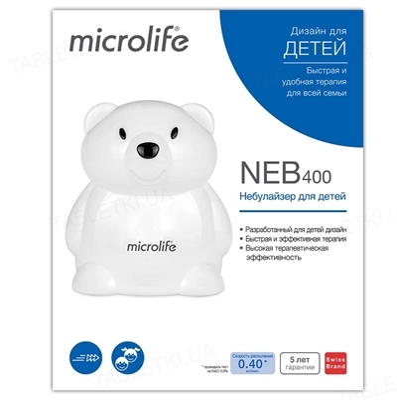 Ингалятор (небулайзер) Microlife NEB 400 компрессорный