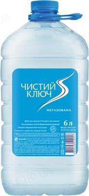 Вода питьевая Чистый ключ, негазированная, 6,0 л