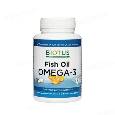 Омега-3 Biotus исландский рыбий жир капсулы №120
