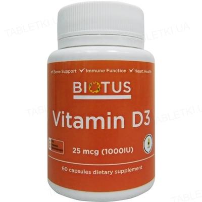 Витамин D3 Biotus капсулы по 1000 МЕ №60