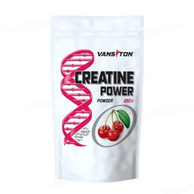 Креатину моногідрат Vansiton Creatine Power, вишня, 250 г