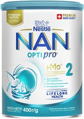 Сухая молочная смесь NAN 2 Optipro для детей с 6 месяцев, 400 г
