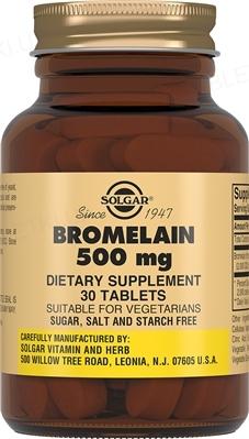 Solgar Бромелайн 500 мг, 30 таблеток