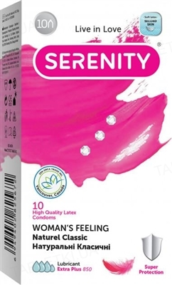 Презервативы Serenity Woman`s Feeling Naturee Classic, 10 штук