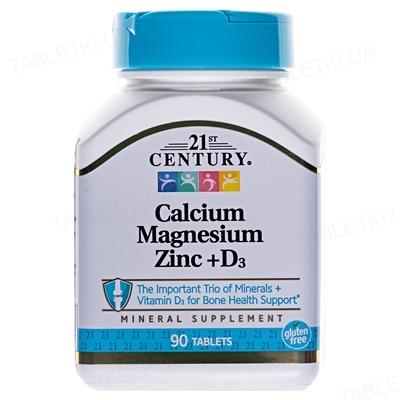 Кальций, Магний, Цинк + Витамин Д3 Apnas Natural таблетки №90