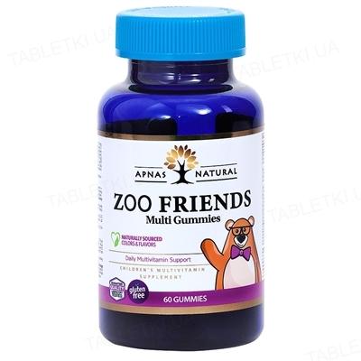 Мульти Зоо Друзья Apnas Natural таблетки жевательные в форме мишек №60