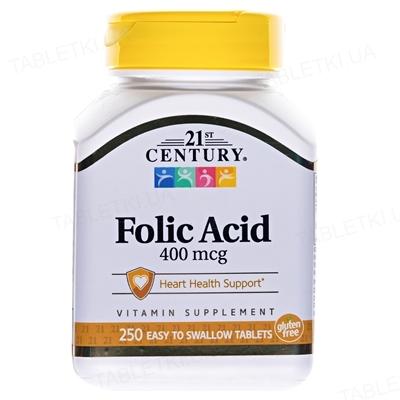 Фолиевая кислота Apnas Natural таблетки по 400 мкг №250