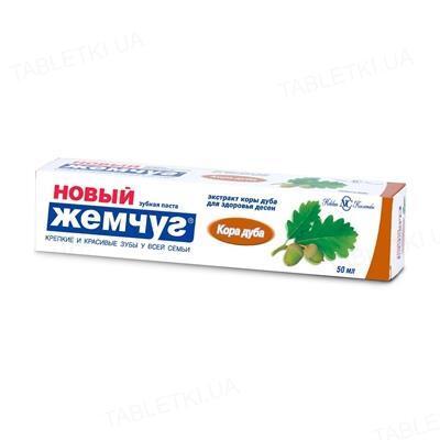 Зубная паста Новый жемчуг кора дуба, 50 мл