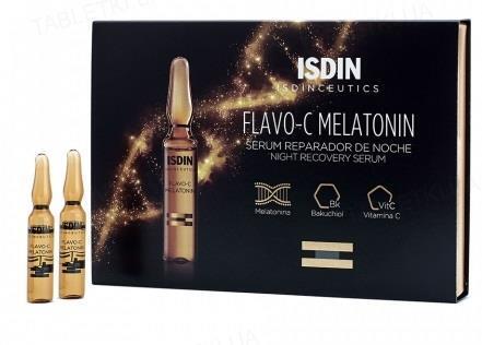 Сыворотка для лица Isdin Isdinceutics Flavo- C Melatonin Ночная восстанавливающая, 10х2 мл