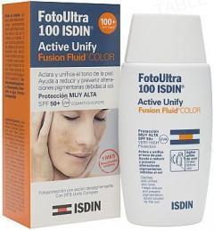 Флюид для лица Isdin Foto Ultra 100 Active Unify Солнцезащитный с тонирующим эффектом SPF 50+, 50 мл