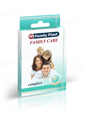 Набор пластырей медицинских «FP Family Plast» бактерицидных Family Care, 20 штук