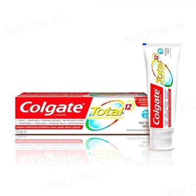 Зубная паста Colgate Total 12, Чистая мята, 75 мл