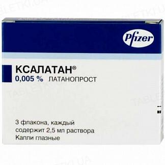 Ксалатан капли глаз., р-р 0.005 % по 2.5 мл №3 во флак.