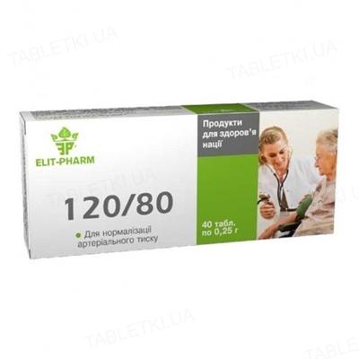 120/80 для нормализации давления таблетки №40