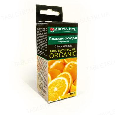 Масло эфирное Aroma Inter Апельсин сладкий, 10 мл