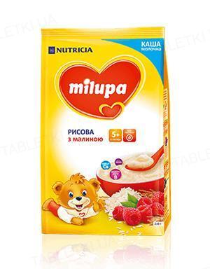 Молочная каша Milupa рисовая с малиной для детей с 5 месяцев, 210 г