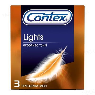 Презервативи латексні Contex Lights особливо тонкі, 3 штуки