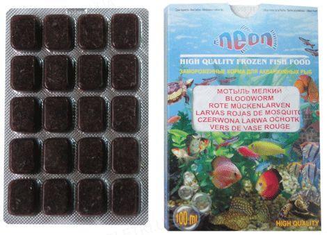 Корм для аквариумных рыб Neon Мотыль мелкий, 100 мл
