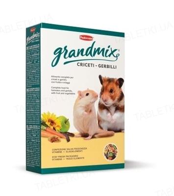 Корм основной комплексный Padovan GrandMix Criceti для хомяков, мышей и песчанок, 400 г