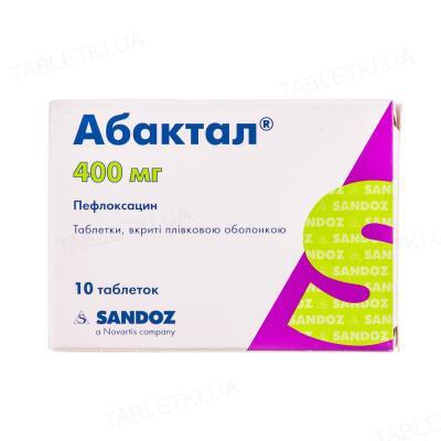 Абактал таблетки, п/плен. обол. по 400 мг №10