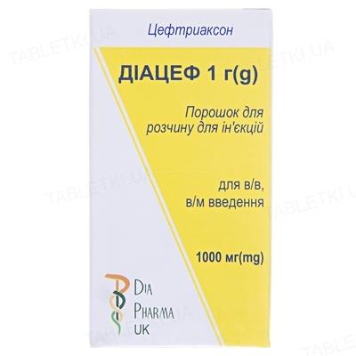 Диацеф 1 г порошок для р-ра д/ин. по 1000 мг №1 во флак.