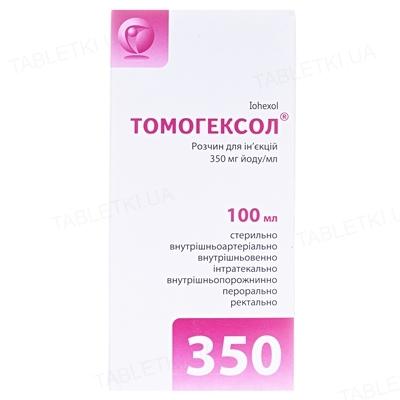 Томогексол раствор д/ин. 350 мг йода/мл по 100 мл №1 во флак.