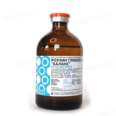 """Глюкоза 5% """"Баланс"""" (ДЛЯ ЖИВОТНЫХ) раствор, 100 мл (аналог Дуфалайт)"""