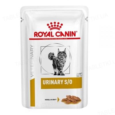 Корм влажный для кошек Royal Canin Urinary S/O Feline Pouches при мочекаменной болезни, соус, 85 г