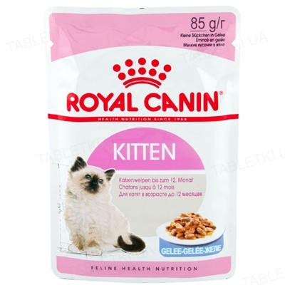 Корм влажный для котят Royal Canin Kitten Instinctive Jelly с 4 до 12 месяцев, желе, 85 г