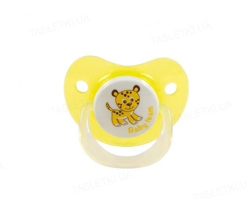 Пустышка силиконовая Baby Team 3001 ортодонтическая, от 0 месяцев, 1 штука