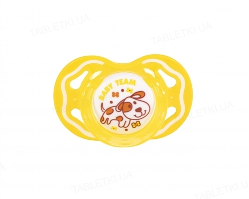 Пустышка силиконовая Baby Team 3011 ортодонтическая, от 6 месяцев, 1 штука