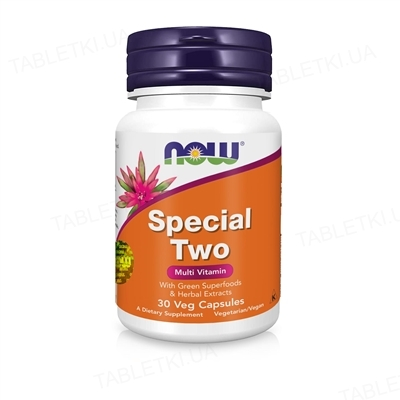 Мультивитаминный комплекс NOW Special Two Multi капсулы №30