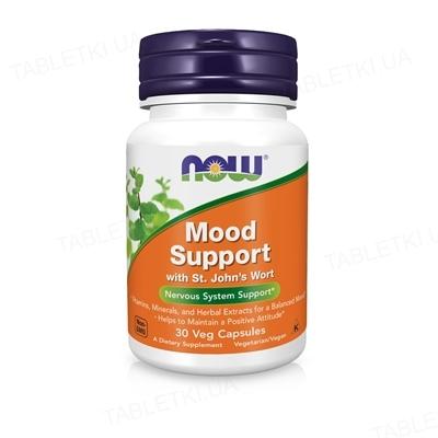 Витамины NOW Mood Support поддержка ЦНС капсулы №30