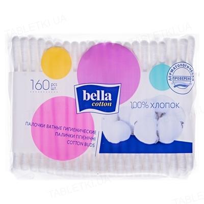 Палочки ватные гигиенические Bella Cotton, полиэтиленовая упаковка, 160 штук