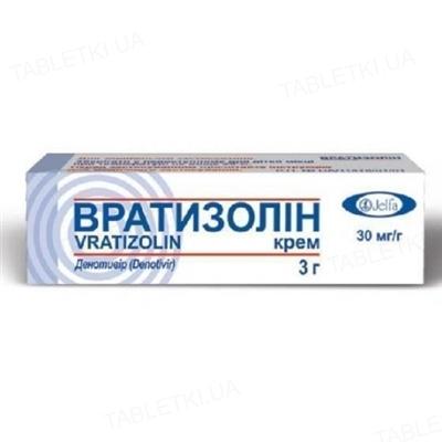 Вратизолин крем 30 мг/г по 3 г в тубах