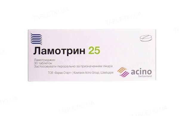 Ламотрин таблетки, дисперг. по 25 мг №30 (10х3)