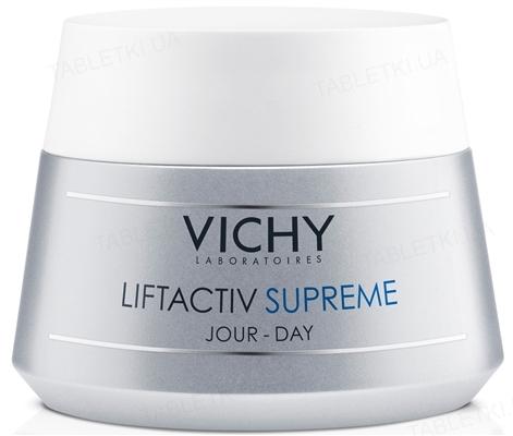 Средство для лица Vichy Liftactiv Supreme длительного действия: коррекция морщин и упругость кожи, для нормальной и комбинированной кожи, 50 мл