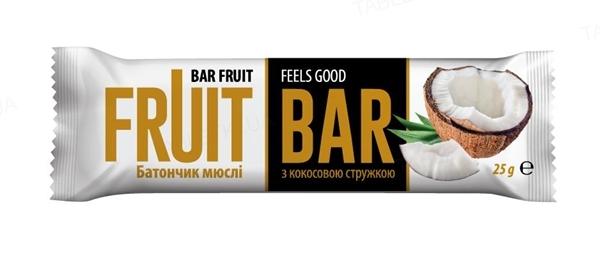 Батончик-мюсли Fruit Bar с кокосовой стружкой, 25 г