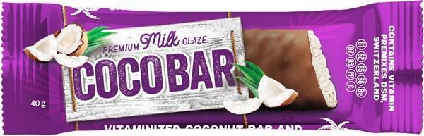 Батончик-мюсли Coco Bar Витаминизированный кокосовый в молочной глазури, 40 г