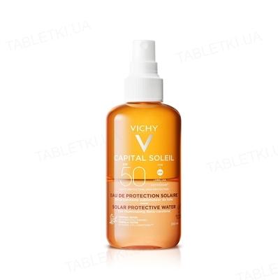 Спрей Vichy Capital Soleil, солнцезащитный водный, двухфазный, для лица и тела, с бета-каротином, для усиления загара, SPF 50, 200 мл