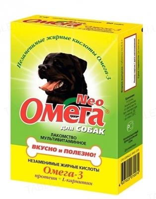 Омега Нео витамины для собак протеин и L-карнитин, 90 таблеток