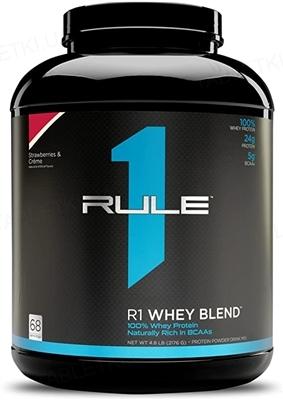 Протеин R1 (Rule One) Whey Blend Клубника и крем, 2236 г