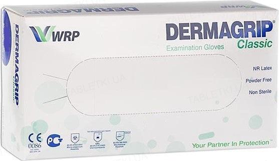 Перчатки смотровые Dermagrip Classic латексные без пудры нестерильные, размер S, пара