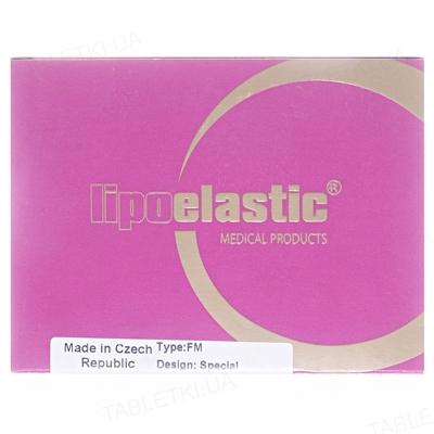 Бандаж маска для лица компрессионная Липоэластик FM special застежка липучка, цвет бежевый, размер XL