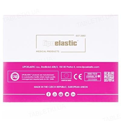 Бандаж маска для лица компрессионная Липоэластик FM special застежка липучка, цвет черный, размер S