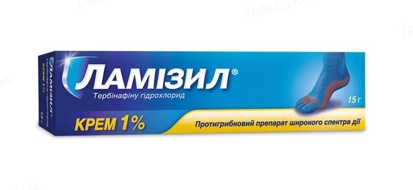 Ламизил крем 1 % по 15 г в тубах