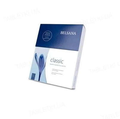 Колготки компрессионные Belsana класс компрессии 2 стандарт, открытый носок, бежевые, размер 4