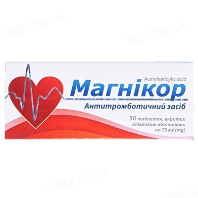 Магникор таблетки, п/плен. обол. №30 (10х3)