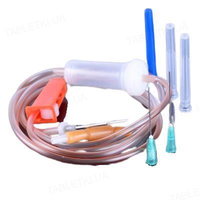 Система для вливания кровезаменителей и инфузионных растворов Пластмед 21-01 (ПР) стерильная с метал. иглой, 1 штука